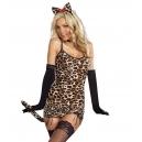 Costume léopard avec gants