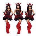 Costume dragon noir et rouge